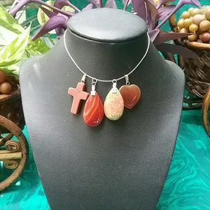 5 Real Ston Necklace Pendants